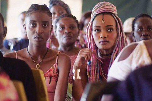 "Bursting with the colorful street style and music of Nairobi's vibrant youth culture, the film ""Rafiki"" is a tender love story between two young women in a country that still criminalizes homosexuality."