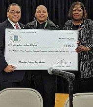 HUD has awarded $1,259,176 to Housing Action Illinois to distribute funds to local nonprofits.