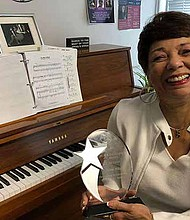 Bobbi Wilsyn, long-time Columbia College Chicago faculty member and coordinator of the Vocal Studies program, received a 2018 Black Excellence Award from the African American Arts Alliance of Chicago (AAAA) for Outstanding Achievement in Jazz Music. Photo courtesy: Bobbi Wilsyn
