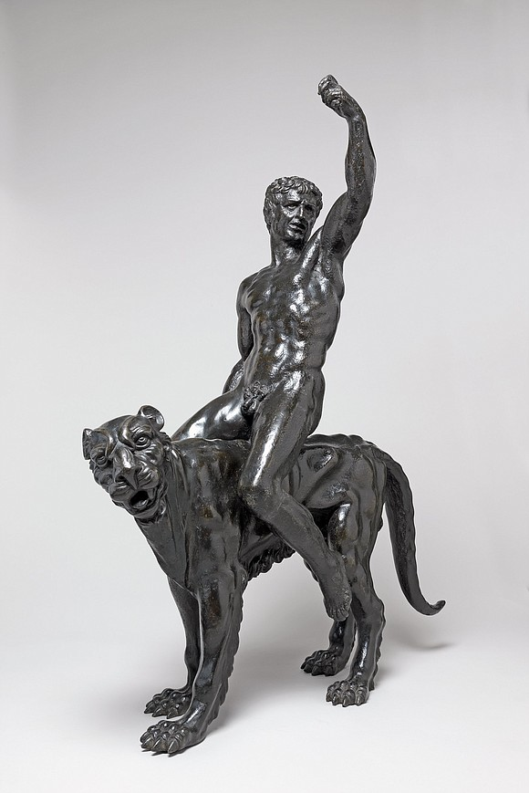 A team of leading art researchers has revealed that two bronze sculptures of nude men riding panther-like creatures are the ...