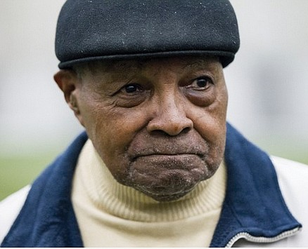 "Wallace ""Wally"" Triplett, who set many ""firsts"" as a pioneering African-American football player, died Thursday, Nov. 8, 2018, at his ..."