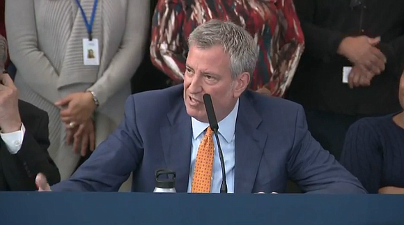 Mayor Bill de Blasio announced the launch of the largest plan in the nation to guarantee health care for every ...