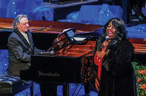 A special holiday piano concert featuring famed Portland performers Michael Allen Harrison and Julianne Johnson will be presented Tuesday,