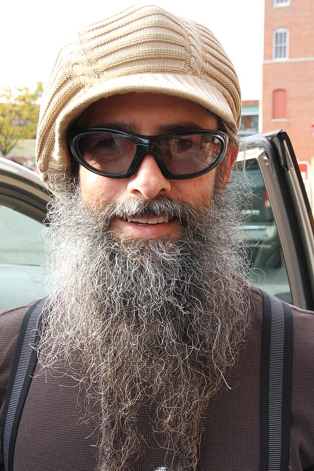 """Stu Ross, 43, of Lakeside: """"My family. I am on my way to hang out with them for a week."""""""