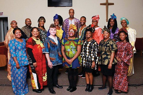 Black Nativity cast members from Portland's PassinArt theater company during last year's production. This year, the holiday song play by Langston Hughes returns for three weekends of performances at Bethel AME Methodist Church in northeast Portland.