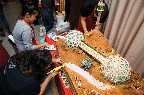 Sweet science demonstrations and build-it-yourself gingerbread workshops on view through Jan. 1.