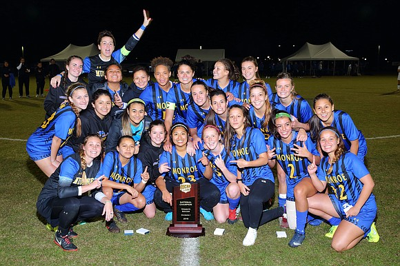 It has been a triumphant season for the Monroe College women's soccer team. They've trained hard, maintained their composure and ...