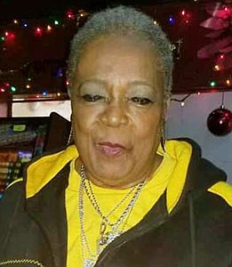 """Rosa """"Rambling Rose"""" Pryor celebrating her birthday at Valerie and Rosa's """"Meet and Greet to Remember"""" Roots Lounge."""