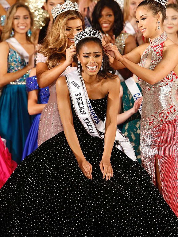 Kennedy Edwards made history over the weekend when she was crowned as the first ever African-American Miss Texas Teen USA ...