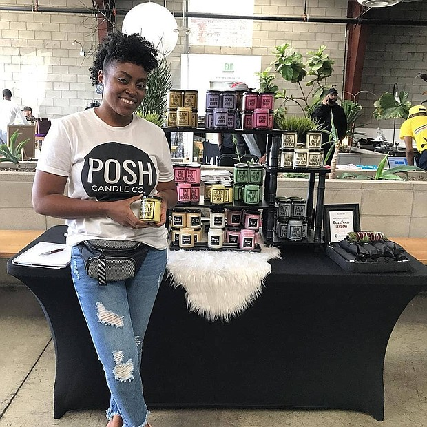 Tay Watts of Posh Candle Co.