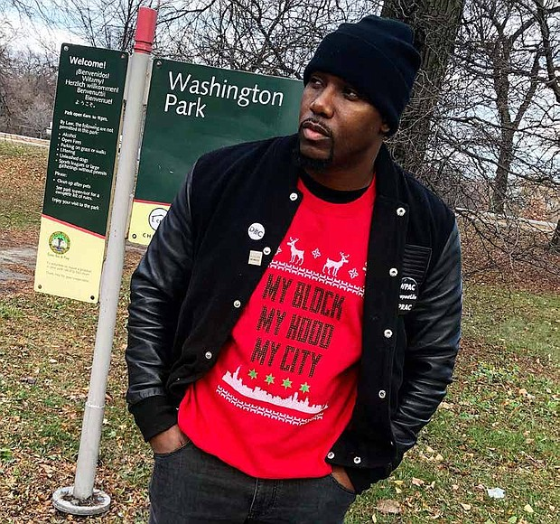 Jahmal Cole (pictured) is the founder of My Block, My Hood, My City, a nonprofit organization that is hosting Be A Part Of The Light which will bring holiday lights and decorations to Martin Luther King Jr. Drive from 51st street to 95th street. Photo Credit: Provided by My Block, My Hood, My City