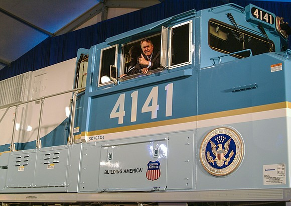 George H.W. Bush's journey to his final resting place will be aboard a train whose engine was specifically built to ...