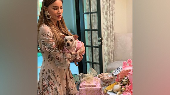 Baguette Gonzalez celebrated her birthday with some high fashion, a money gun, a lavish spread and a birthday cake made ...