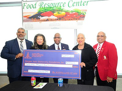 Morgan's Class of 1969 donated $29,500 to launch the new Food Resource Center located in the Morgan Business Center. The center will provide students in need with a centralized location to obtain food resources with the use of their BEARcard student I.D. Once stocked and fully operational, the center will be open on the first Friday of the month from 3 p.m. to 6 p.m. during the academic year.