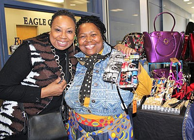 Parris Brown (left) and vendor Sister Yeshiyah (YBI Boutique)