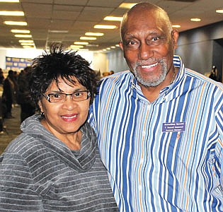 Dena Wane and gift card prize winner, Russell Hopewell