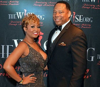 Dr. Thomisha M. Duru, founder of WISEorg, Inc. with Sergeant Major Brian Taylor at the first ever Golden Gala in Washington, D.C.