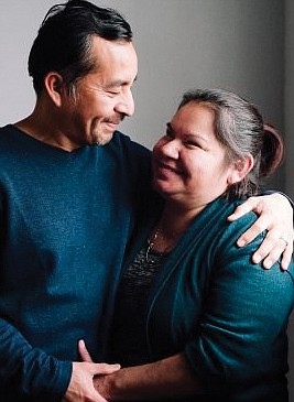 Samual Oliver-Bruno, who was deported to Mexico by ICE officials, is shown with his wife, Julia Perez Pacheco, in this photo from February.