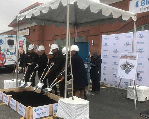 A groundbreaking ceremony was recently held for the new Blue Door Neighborhood Center that will soon be located in the ...