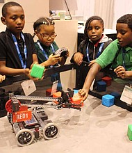 Students from Betty Shabazz Academy and Barbara A. Sizemore Academy were recently invited to attend the International Manufacturing Technology Show. Photo Credit: Provided by Betty Shabazz Academy
