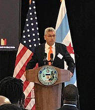 Chancellor of City Colleges of Chicago, Juan Salgado (pictured), recently announced the Men of Color in Education Initiative that will provide mentorship to men of color in Chicago that are interested in pursuing a career in early childhood education. Photo Caption: Katherine Newman
