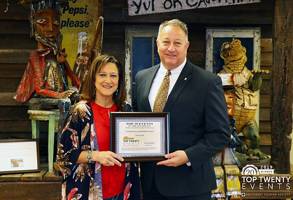 The Southeast Tourism Society (STS) recently honored the Louisiana Fur & Wildlife Festival as a 2019 Top 20 Event for ...