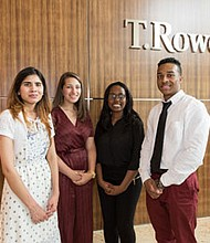 Franklin High School graduates (left-right): Noor Shaike, Margaret Garcia, Daisy Atika, and Syncere Hobbs were selected by the school's guidance department and alumni association and received an initial scholarship of $2,000. They are eligible to renew the prize for the next four years as long as they continue to meet the criteria.