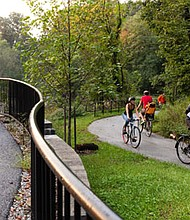 Some of the existing trail sections in Baltimore City highlight the type of trail improvements the Rails-To-Trails Conservancy hopes to use a City of Baltimore grant to create a 35-mile trail, serving as a convenient means of enhancing transportation in the city.