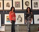 Sharon and Karen Mackey, owners of the Mackey Twins Art Gallery