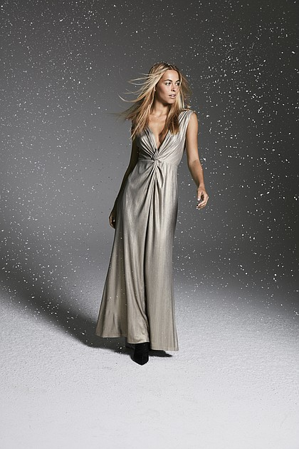Calvin Klein Twisted Metallic Gown $199