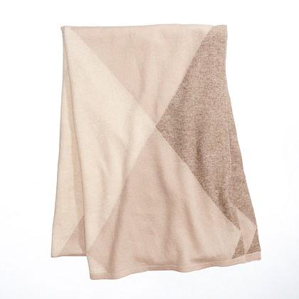 Charter Club Beige argyle cashmere scarf, $169