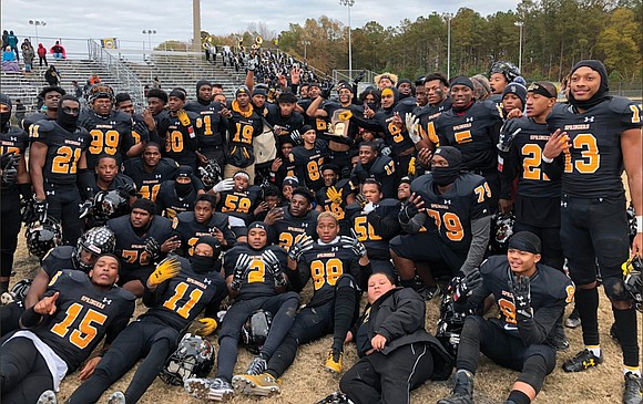 The Highland Springs High School football team members are running out of fingers to display their bling. The Springers captured ...