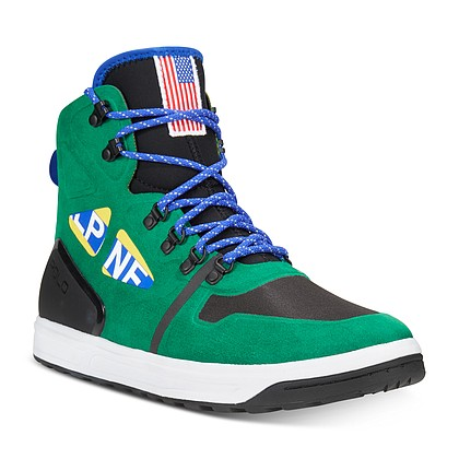 Polo Ralph Lauren high top sneaker, $200