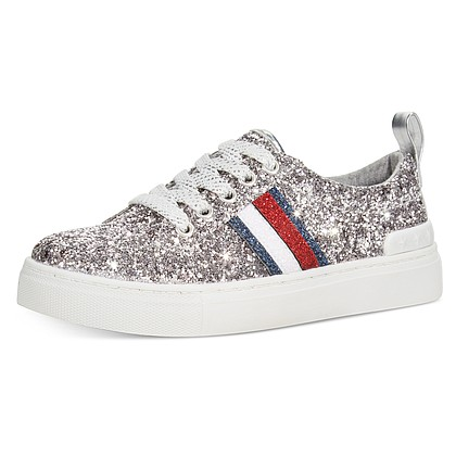 Tommy Hilfiger silver sequin sneaker – girls $30
