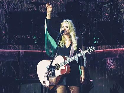 Miranda Lambert performing at  Cynthia Woods Mitchell Pavilion