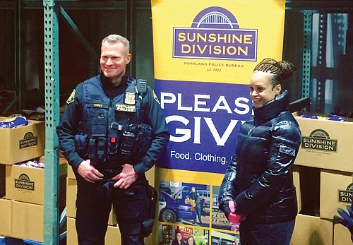 The Portland Police Bureau Sunshine Division has packed 3,800 holiday food boxes to help local families who struggle economically.