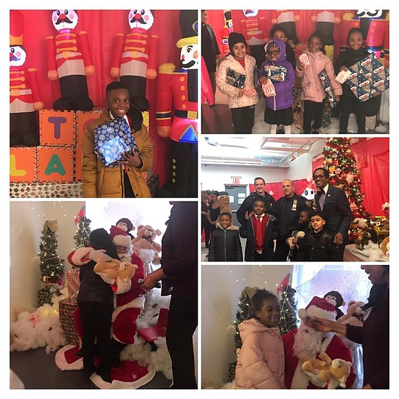 Students from PS46 and Thurgood Marshall School in Harlem got quite a surprise from Santa Monday.