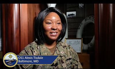 A Holiday Greeting to Baltimore from OS1 Alexis Tisdale