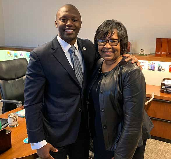 Advocate South Suburban and Advocate Trinity Hospitals recently named Rashard Johnson (left) as their new president to oversee both hospitals. Photo Caption: Alvin Rider