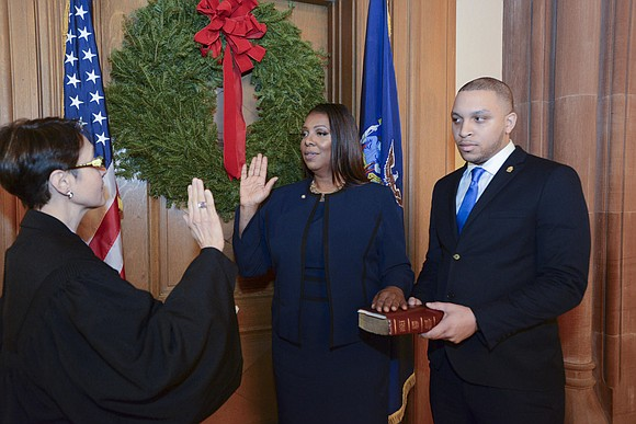 Just before midnight, Letitia James was officially sworn in as the 67th Attorney General for the State of New York.