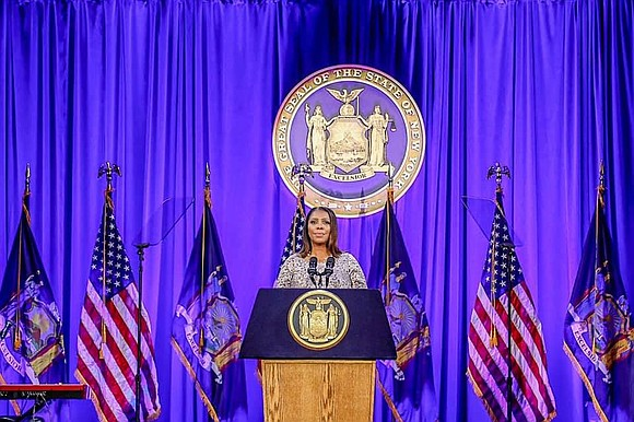On Tuesday, Attorney General Letitia James delivered remarks at the official New York State Inauguration Ceremony on Ellis Island.