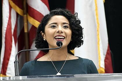 Harris County Judge Lina Hidalgo, photo by Vicky Pink