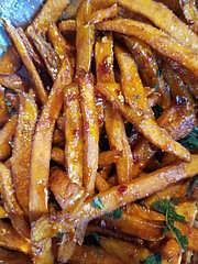 Hot Honey and Sage Sweet Potato Fries