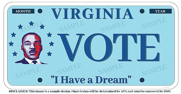 Can Delegate Dawn M. Adams find 450 Virginians willing to pay $25 to $35 for a specialty license plate honoring ...
