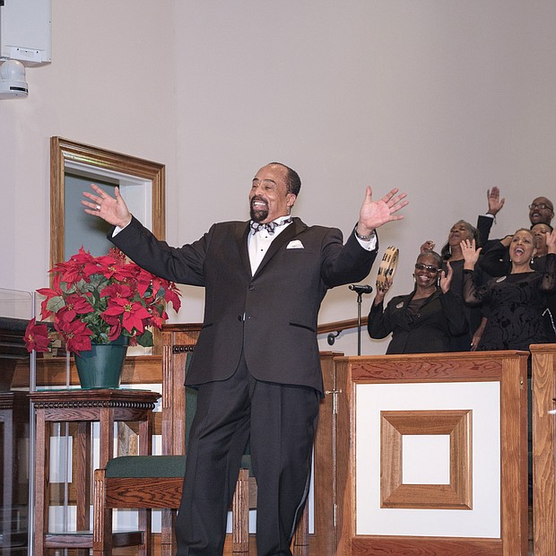 Final performance: Larry Bland & The Volunteer Choir give a joyful, final performance Sunday to an appreciative crowd of worshippers at St. Peter Baptist Church in Henrico County. Mr. Bland, 65, is retiring as director and chief organizer of the gospel performance group that has brought inspirational music to the region for 50 years. Mr. Bland also sang and played piano with The Volunteer Choir that has about 25 active singers. He and the choir received several ovations during the service, led by Dr. Kirkland R. Walton, pastor of St. Peter. The group, which began in 1968, was in recent years a regular part of the fifth Sunday worship service at the church on Mountain Road.  (Photo by Ava Reaves)