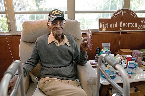 Richard Overton, the nation's oldest World War II veteran who was also believed to be the oldest living man in ...