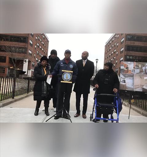 Three Brooklyn Tenant Association Presidents were guided by Brooklyn Borough President Eric Adams into an apartment inside Ocean Bay Bayside ...