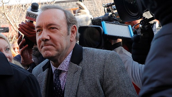 Actor Kevin Spacey appeared at a Nantucket courthouse and a plea of not guilty was entered on his behalf, in ...