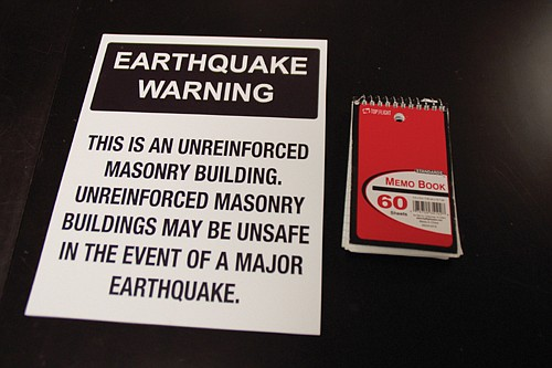 A new placard warning for unreinforced masonry buildings