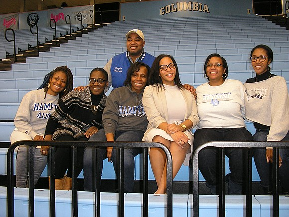 """We try to always come out and support our university,"" said Carol Fennell. ""Hampton is in Virginia, so we don't ..."